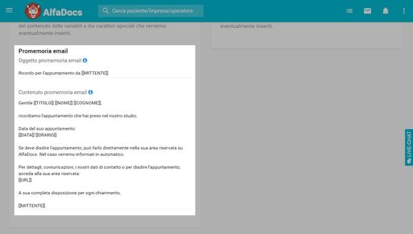 Promemoria-Email